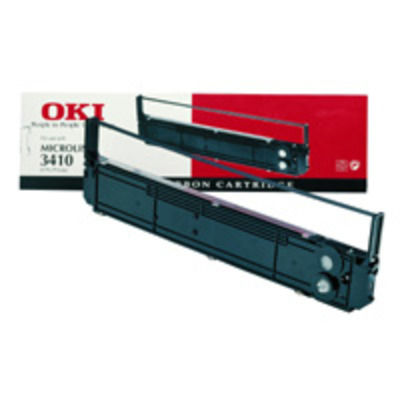 OKI 09002312, Colour Nylon Ribbon, f/393/395C Printerlint - Zwart,Cyaan,Magenta,Geel