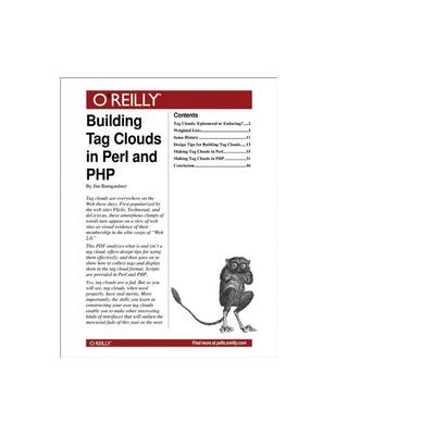 O'reilly boek: Media Building Tag Clouds in Perl and PHP - eBook (PDF)