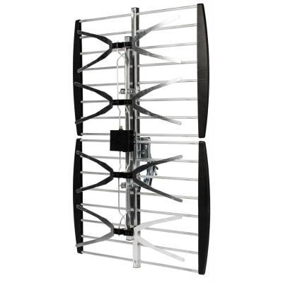 Valueline antenne: Flat panel outdoor antenna DVB-T & UHF 14dB - Zwart, Zilver