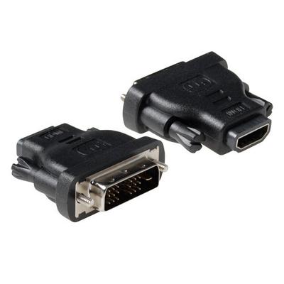 ACT Verloop adapter DVI-D male naar HDMI A female Kabel adapter - Zwart