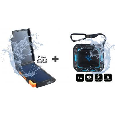 Xtorm batterij: Evoke Solar Charger + Bluetooth Speaker Square