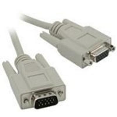 C2G 3m HD15 M/F SVGA Cable VGA kabel  - Grijs