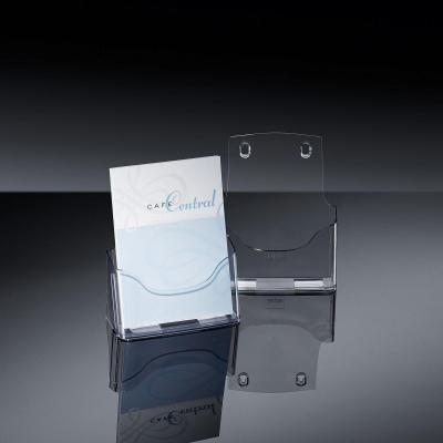 Sigel ordner: Tafelstandaard voor folders acrylic, met 1 vak, glashelder, voor A5 - Transparant