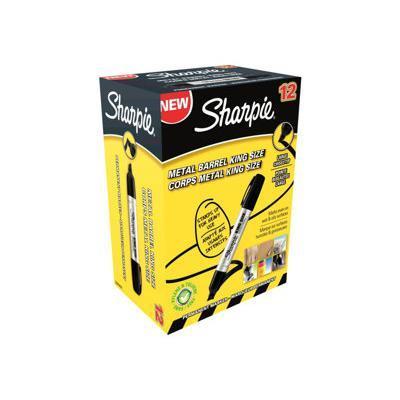 Sharpie marker: King Size - Zwart, Metallic