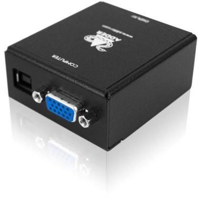 Adder video converter: VGA - DVI-D, USB powered, 1920 x 1200 @ 60Hz - Zwart