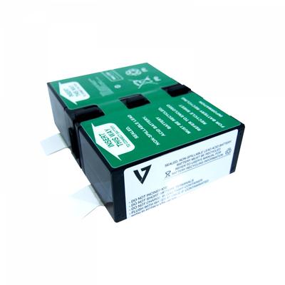 V7 RBC124 UPS UPS batterij - Zwart,Metallic