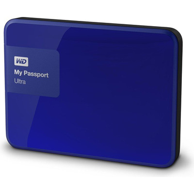 Western digital externe harde schijf: My Passport Ultra 500GB - Blauw