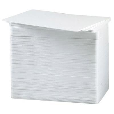 Datacard lege plastic kaart: CR80/030 Plastic ID Cards, PVC Graphics, White - Wit