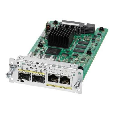 Cisco netwerk switch module: 2-port Gigabit Ethernet, dual-mode GE/SFP, Network Interface Module