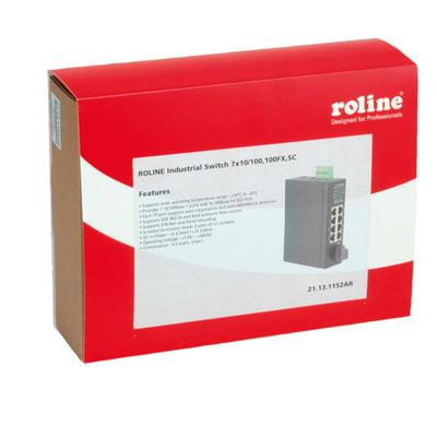 ROLINE Industrial, 7x RJ-45, 1x SC, unmanaged Switch