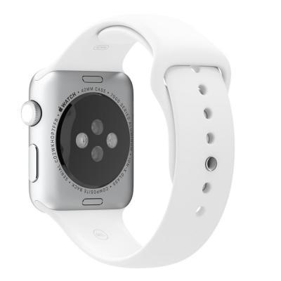 Apple horloge-band: 42mm White Sport Band - Wit