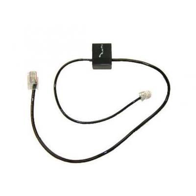 Plantronics telefoon kabel: PLX SPARE TELEPHONE INTERFACE CABLE - Zwart