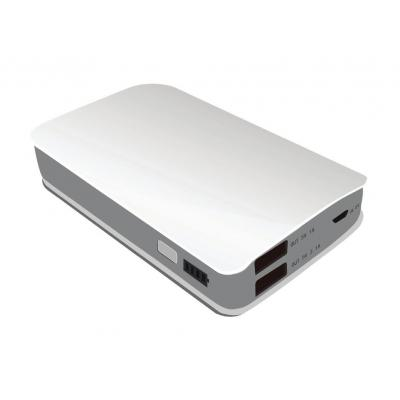 Iconbit powerbank: FTB6600PB - Zilver, Wit
