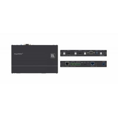 Kramer Electronics 3.1 Vpp, 0.013%, 75 dB, 48V DC, 630mA, Aluminium, 0.5 kg AV extender - Zwart