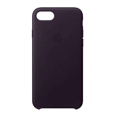 Apple mobile phone case: Leren hoesje voor iPhone 8/7 - Aubergine