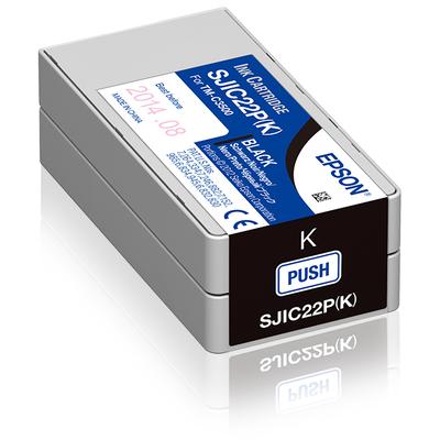 Epson SJIC22P(K) Inktcartridge - Zwart