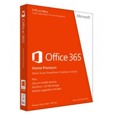 Microsoft software suite: Office 365 Home Premium