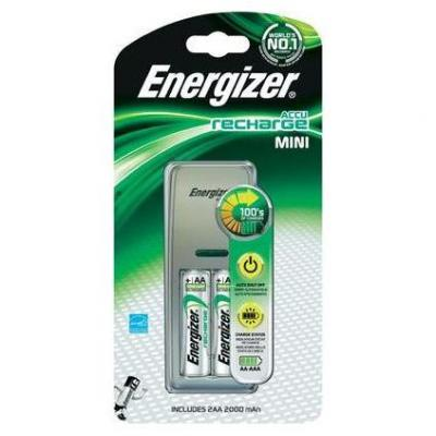Energizer oplader: AAA/ AA, 100 mA/ 200mA, 230 V - Zilver