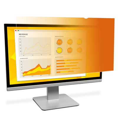 """3M Gold Privacyfilter voor breedbeeldscherm voor desktop 24"""" (16:10) Schermfilter - Goud,Doorschijnend"""