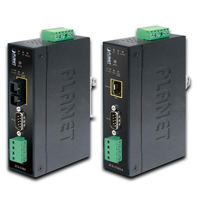 PLANET Industrial RS-232/RS-422/RS-485 over 100Base-FX (Fiber, Vary on SFP module) Media converter - Zwart