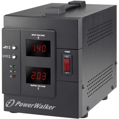 PowerWalker AVR 1500 SIV FR Voltage regulator - Zwart