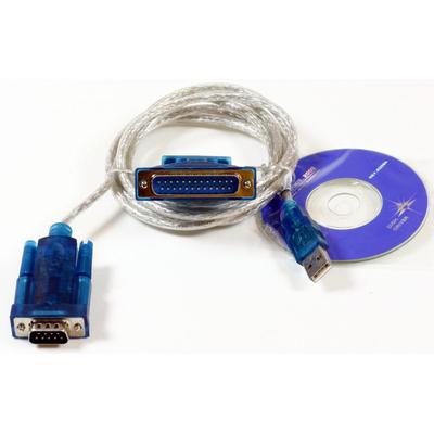Microconnect USB A - Serial DB9, 1.8m Seriele kabel - Transparant