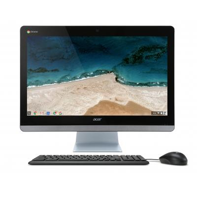 Acer all-in-one pc: Chromebase Chromebase CA24I - Zwart, Zilver, QWERTY