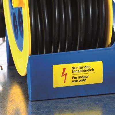 Herma etiket: Labels signalling hard-wearing A4 63,5x29,6 mm yellow strong adhesion film matt weatherpr. 675 pcs. - Geel