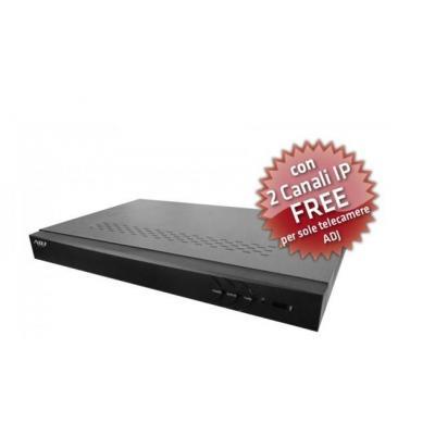 Adj digitale video recorder: 8 ch, 704 x 576, H.264, NTSC/PAL, USB 2.0, HDMI, Fast Ethernet, black - Zwart