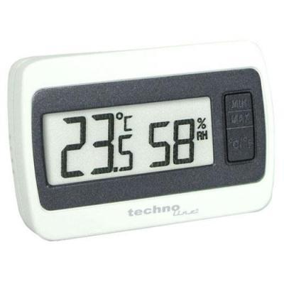 Technoline omgevingsthermometer: Thermometer-Hygrometer, 1x LR 44 1.5V - Grijs, Wit