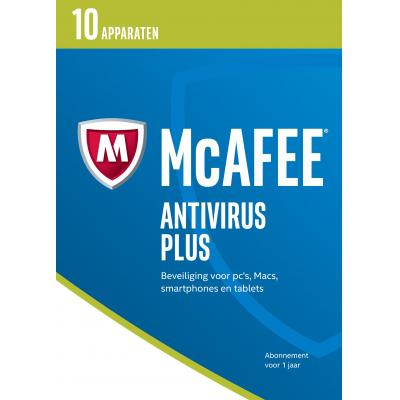 Mcafee software: AntiVirus Plus 2017, 10 Devices (Dutch)