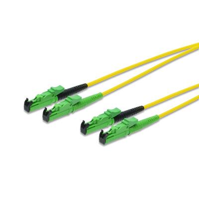 ASSMANN Electronic E2000-E2000,15m Fiber optic kabel - Zwart,Groen,Geel