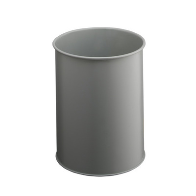 Durable Waste basket metal round 15 Prullenbak - Grijs