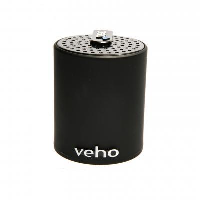 Veho draagbare luidspreker: Portable 360 Bluetooth Speaker for Phones/Laptops/Netbooks - Zwart