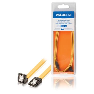 Valueline ATA kabel: SATA 6Gb/s datakabel SATA 7-pin vrouwelijk met slot - SATA 7-pin vrouwelijk met slot 90º gehoekt .....