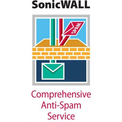 Dell software licentie: SonicWALL SonicWALL Comprehensive Anti-Spam Service for NSA 220 Series - Subscription licence ( .....