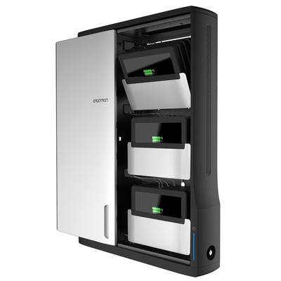 Ergotron Zip12 Portable device management carts & cabinet - Zwart,Metallic