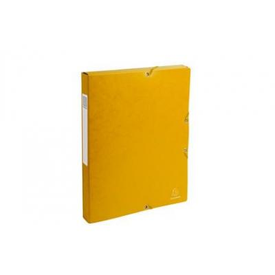 Exacompta archiefdoos: Archiefdoos Rug 25mm versterkt karton - A4 - Geel