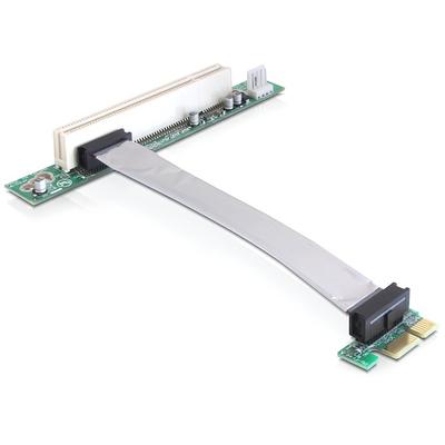 DeLOCK Riser card PCI Express x1 > PCI 32Bit 5 V with flexible cable 13 cm left insertion Slot expander