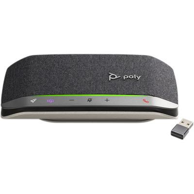 POLY Sync 20+, Microsoft, USB-A (BT600) Telefoonspeaker - Zwart, Zilver