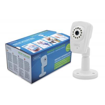 Digitus lug&View OptiView Pro, 1 Megapixel H.264 IP 11N Day & Night Cube camera Max 1280 x 720, 25fps, 5V .....