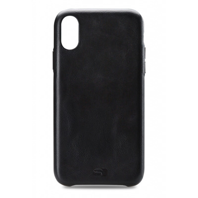 SENZA Pure Leather Cover Apple iPhone Xs Max Deep Black Hoes