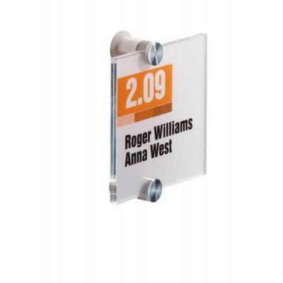 Durable naambord : CRYSTAL SIGN 105x105mm - Transparant