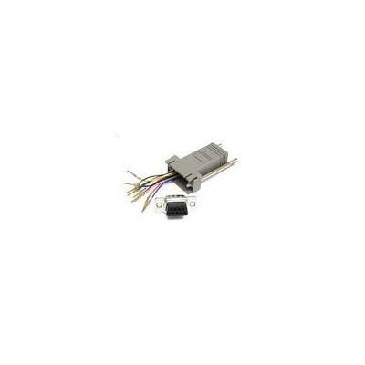 C2G 10-pin RJ45/DB9M Modular Adapter Kabel adapter - Grijs