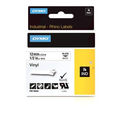DYMO IND Vinyl Labels, 12mm x 5.5m Labelprinter tape - Multi kleuren