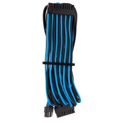 Corsair Premium Individually Sleeved ATX 24-Pin Cable Type 4 Gen 4, Blue/Black - Zwart,Blauw