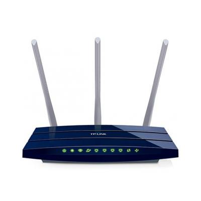 Tp-link wireless router: TL-WR1043ND -  450Mbps Wireless N Gigabit Router with USB-port - Blauw