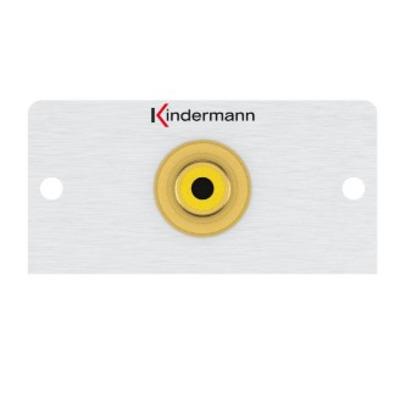 Kindermann 7444000403 Wandcontactdoos - Aluminium