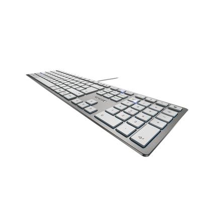 CHERRY KC 6000 Slim - AZERTY Toetsenbord - Zilver, Wit