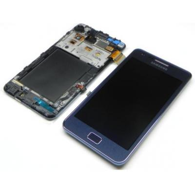 Samsung mobile phone spare part: GT-I9105P Galaxy S2 Plus, display, touchscreen, blue